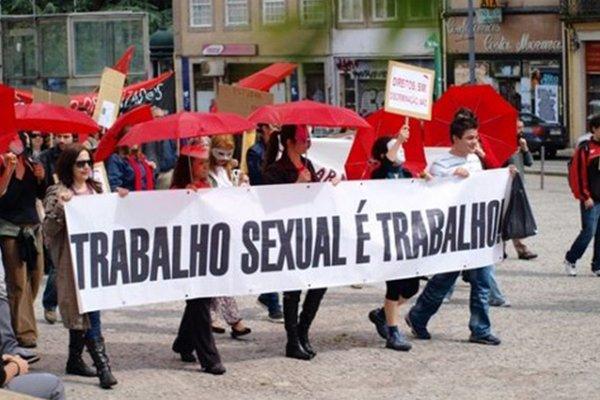 Manifestação pelos direitos dos trabalhadores do sexo